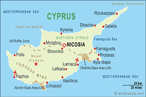 Cyprus Cities and Airports - Limassol - Cyprus Taxi - Larnaca Airport - Nicosia